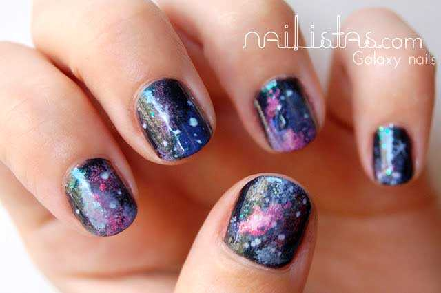Galaxy nails // Uñas decoradas con Galaxias