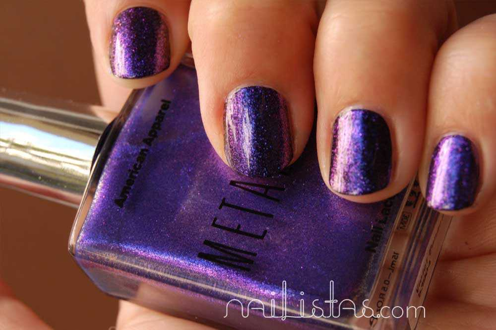 Swatch American Apparel  Violet Panache  Metallic Multichrome