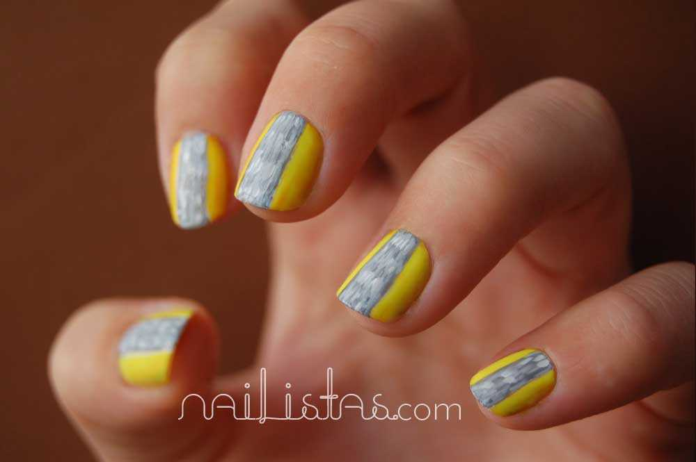 Reto >>> Moda // Mary Katrantzou Nails // Yellow and Grey
