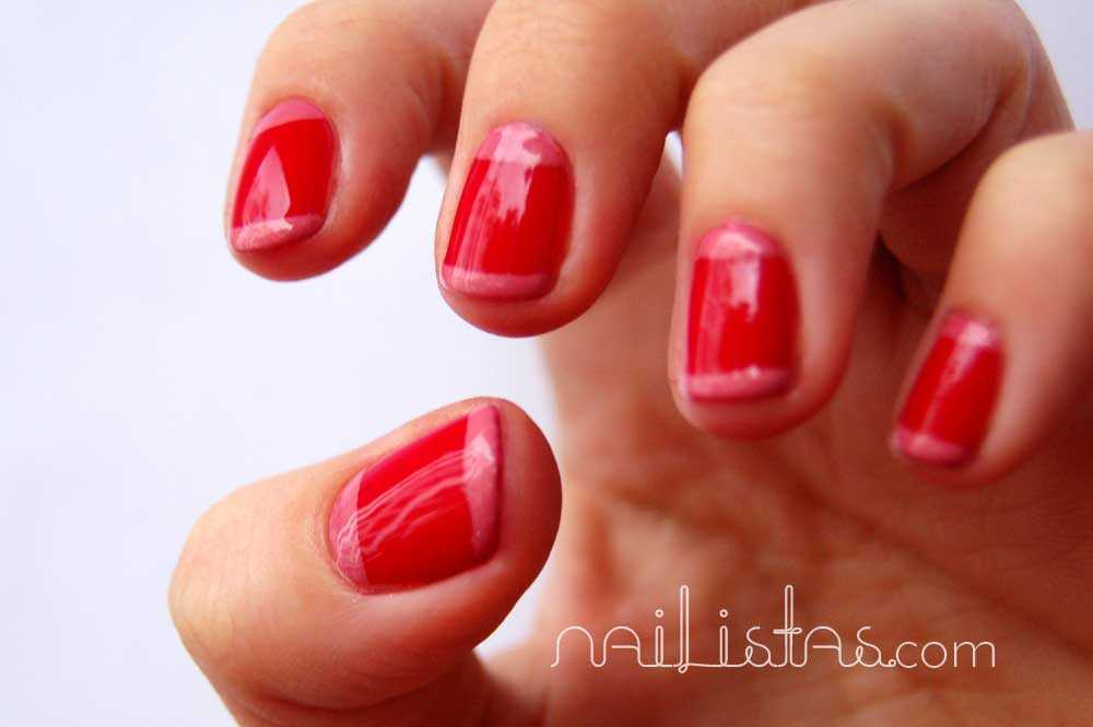 Essie she's pampered // manicura francesa con media luna