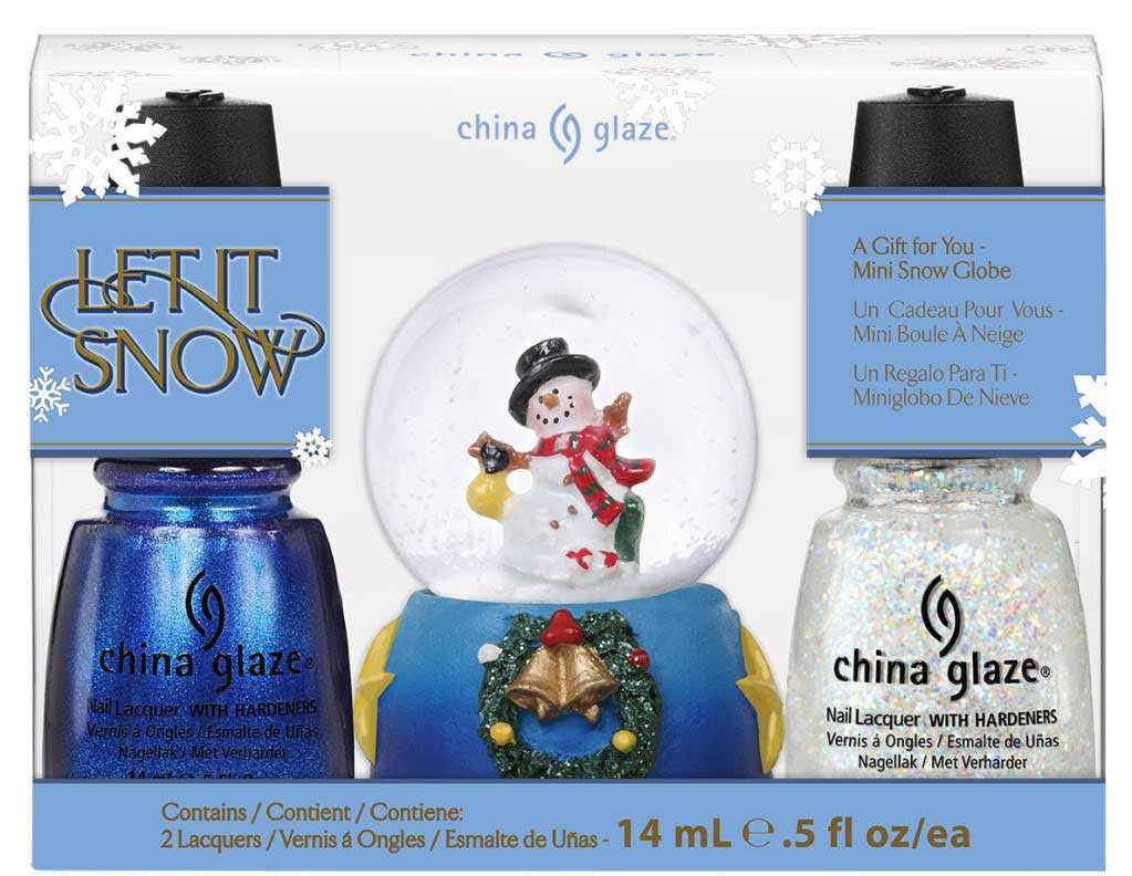 kit let it snow de la marca de esmaltes China Glaze