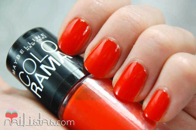 swatch 341 Orange Attack // Maybelline // Colorama