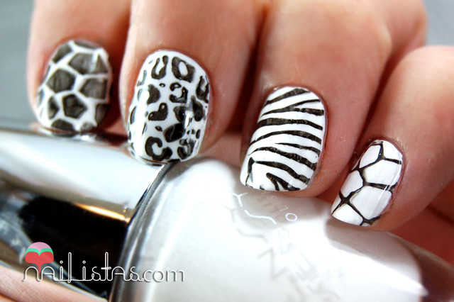 Uñas decoradas con animal print