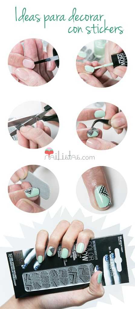 Uñas decoradas con stickers Maybelline NY Color Show