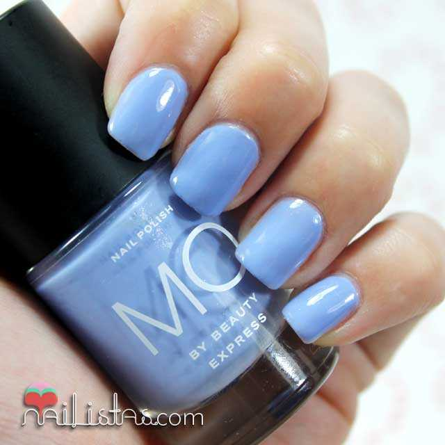 Swatch del esmalte azul nº 22 Mo by Beauty Express