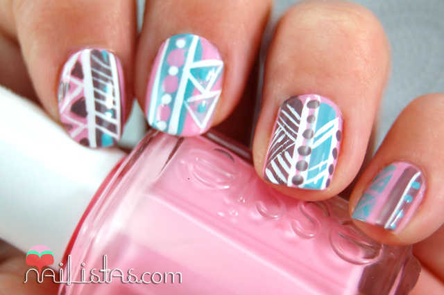 Ideas para diseños de nail art tribal