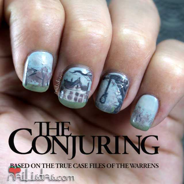 Uñas decoradas inspiradas en Expediente Warren: The Conjuring