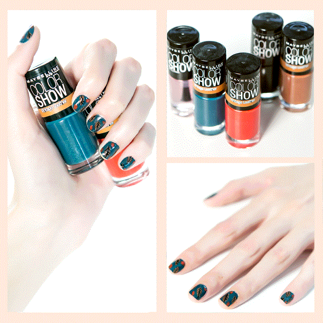 Uñas decoradas con hojas Vintage Leather Color Show  Maybelline NY