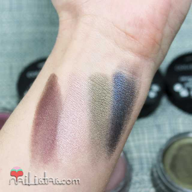 Swatch de sombras en crema Color Edition 24 h de Bourjois