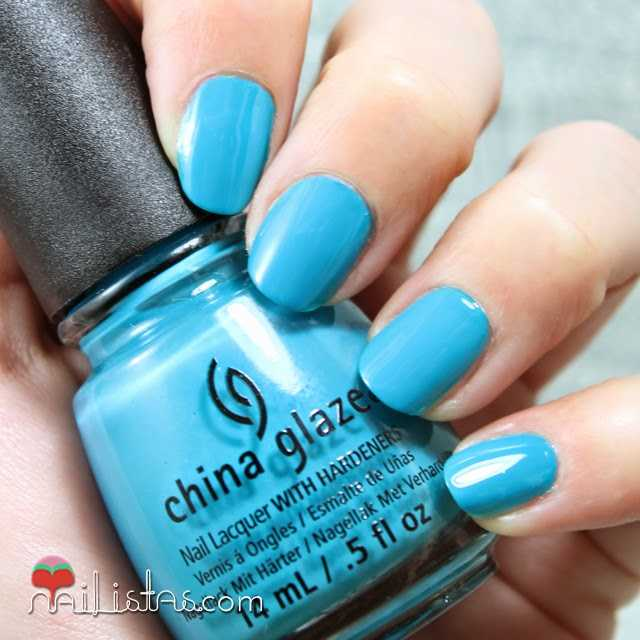 China Glaze Wait N' Sea swatch verano 2014