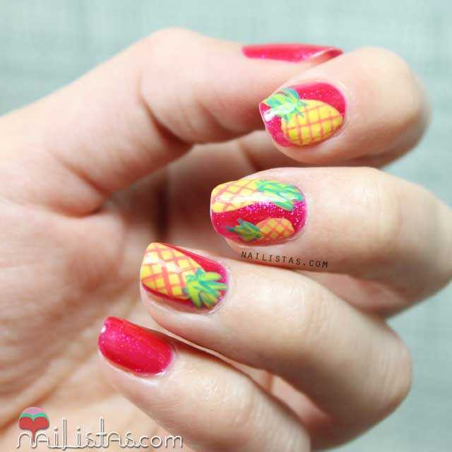 Nail Art De Pi 241 As Tropicales Nailistas U 241 As Decoradas