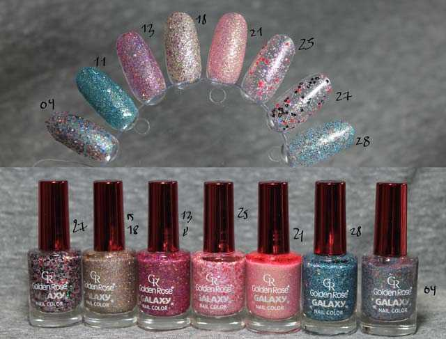 Esmaltes Golden Rose Galaxy  swatches
