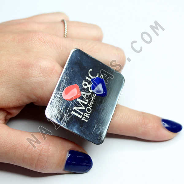 anillo paleta nail art palette ring