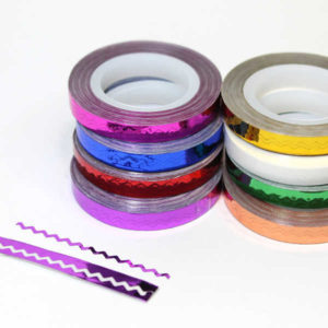CINTA NAIL ART STRIPPING TAPE zig zag