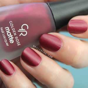 Matte Lacquer 04 Golden Rose Swatch
