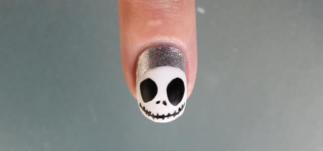 Uñas de Halloween Jack Skellington