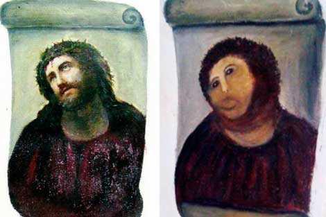 Ecce Homo, el fresco de Borja restaurado por Cecilia Jiménez