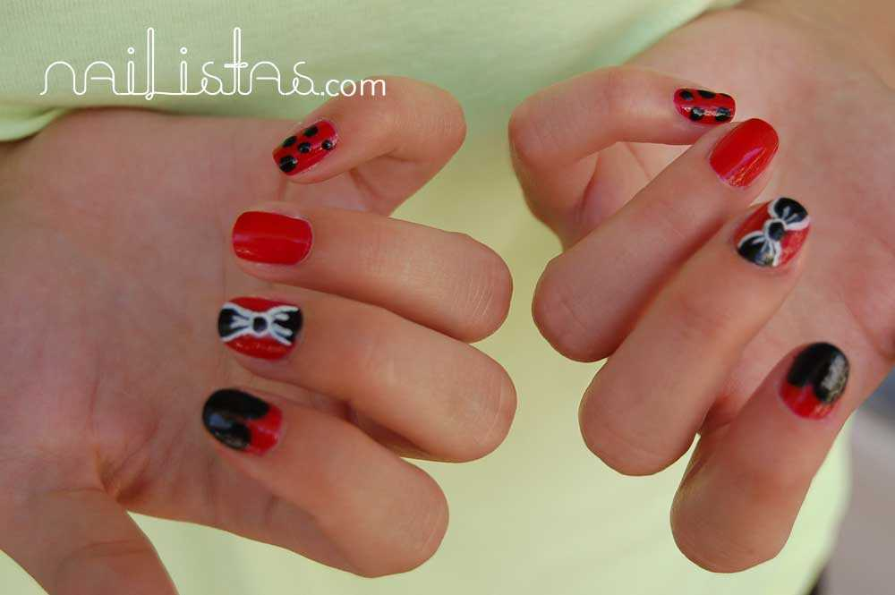 Black & Red ribbon https://www.nailistas.com