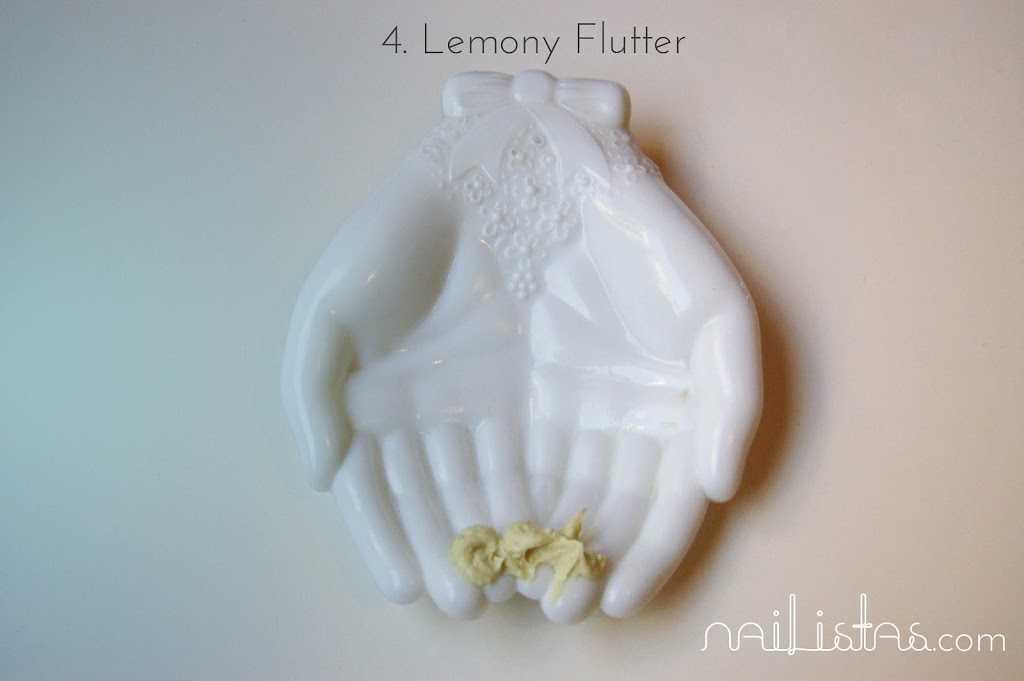 Lemony flutter LUSH cosmetics http://www.nailistas.com