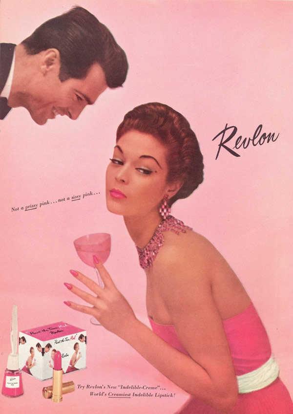 imagén publicitaria vintage de la marca de esmaltes Revlon