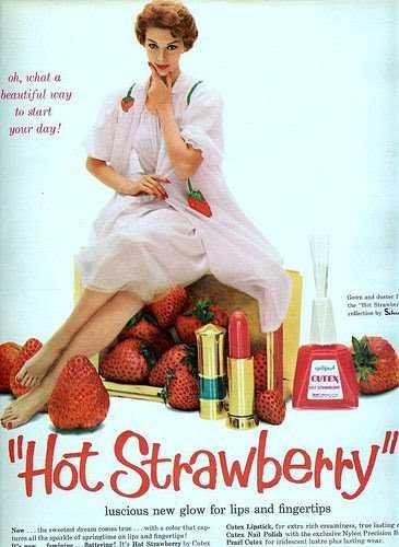 imagen publicitaria  vintage de la marca de pintauñas Cutex