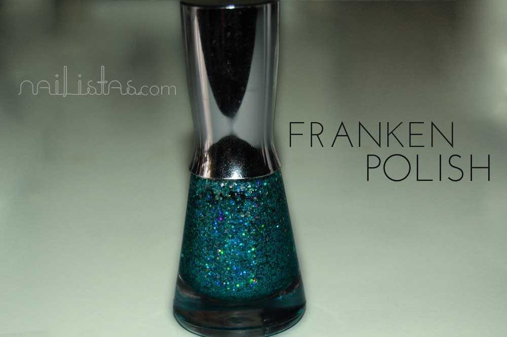 Franken Polish // Cómo hacer tus propios esmaltes con purpurina.