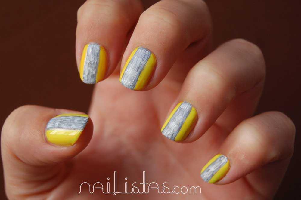 Reto >>> Moda // Mary Katrantzou Nails // Yellow and Grey