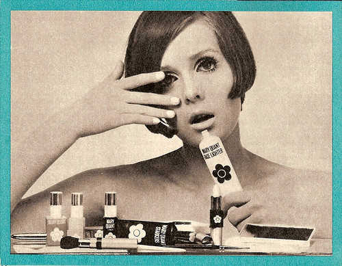 imagen publicitaria de cosmeticos vintage mary quant años 60