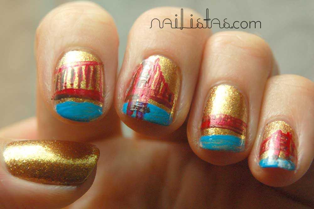 esmalte OPI Goldeneye // manicura Golden Gate