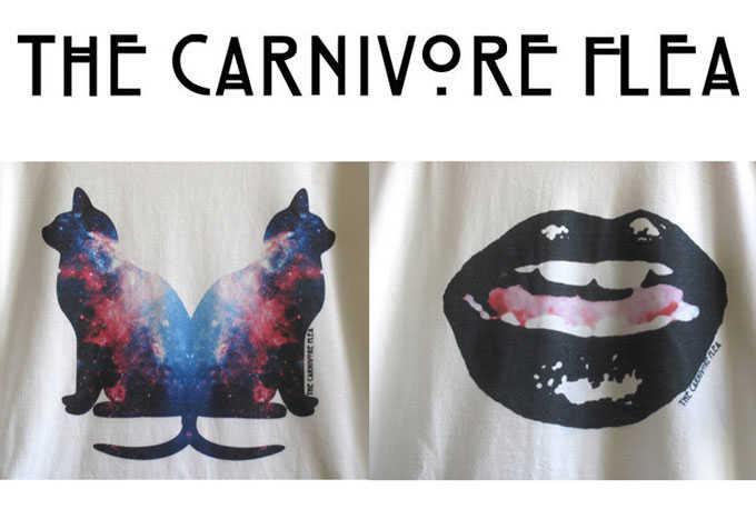 The Carnivore Flea // Camisetas // T-Shirts // Galaxias y Gatos
