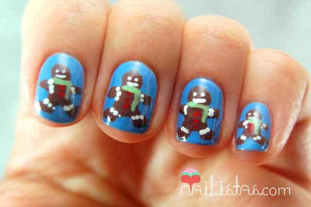 Uñas decoradas navidad // GalUñas decoradas navidad // Galletas de jengibre // Essie Lapiz of Luxuryletas de jengibre