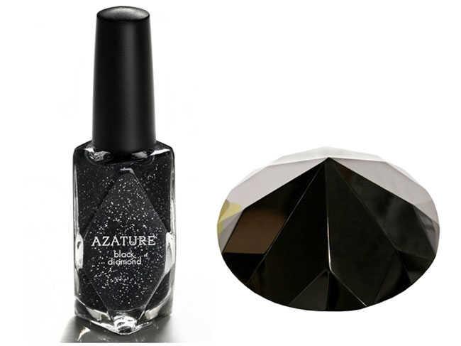 Azature esmalte de uñas de diamante negro