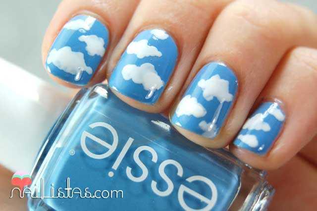 Videotutorial De Uñas Decoradas Con Nubes Nailistas Productos De