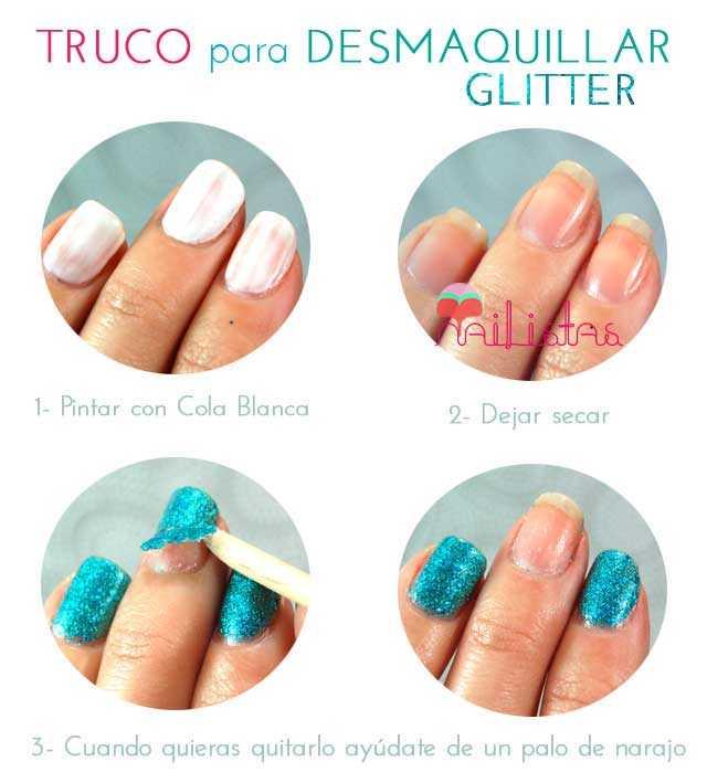 Trucos de Manicura // Desmaquillar uñas con purpurina