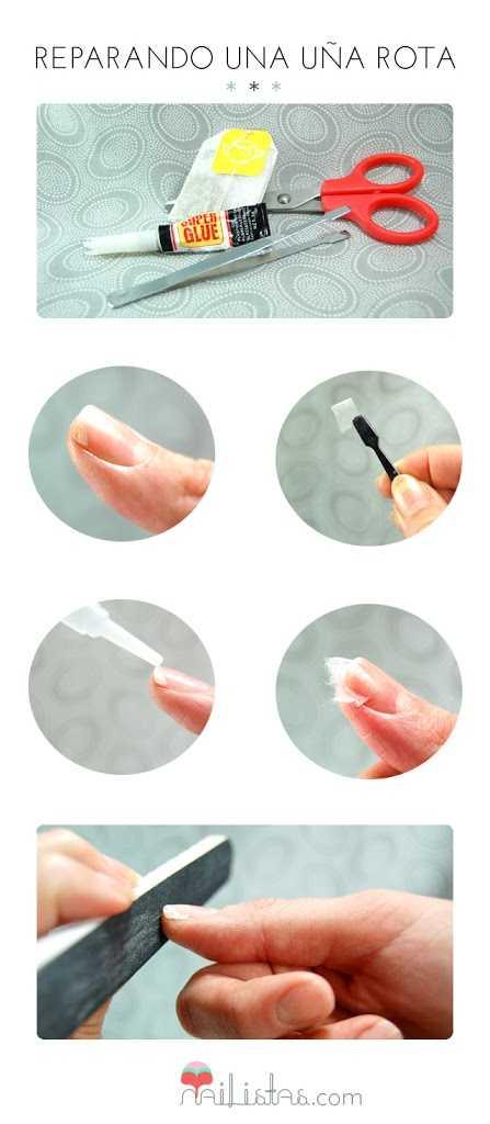 Truco para reparar una uña rota // Tutorial // DIY
