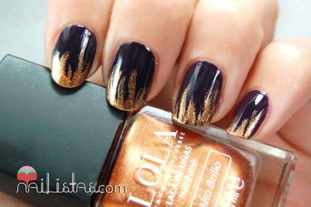 Nail art de llamas // Egyptian Goddess