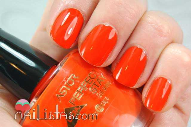 Swatch Tonic Orange Perfect Stay Gel Shine Astor