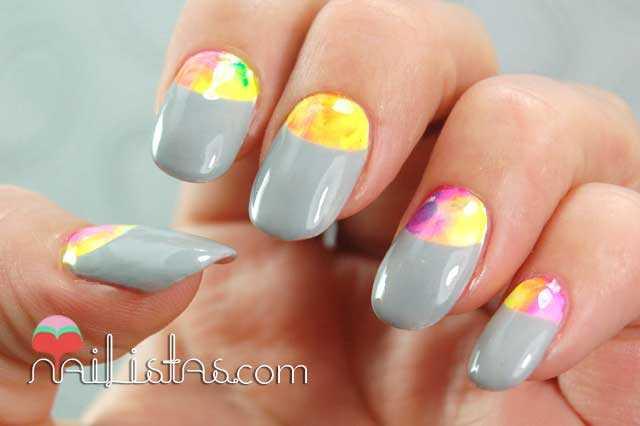 decoración de uñas fácil paso a paso // Medias Lunas
