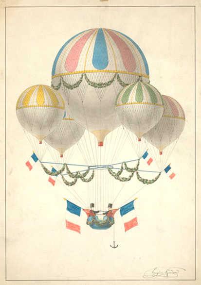 Aerostatic Balloons // Antique // Retro // Old // Globos aerostáticos