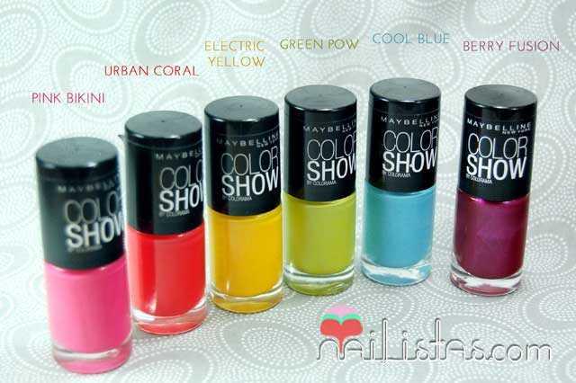 Esmaltes Color Show Maybelline New York