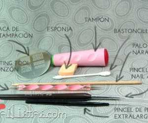 herramientas para la decoración de uñas