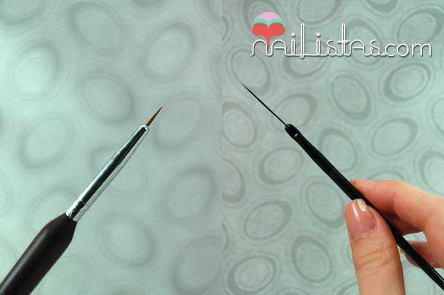 Pinceles para nail art
