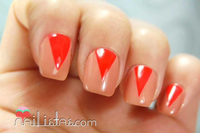 Uñas decoradas paso a paso // Triángulos de neón