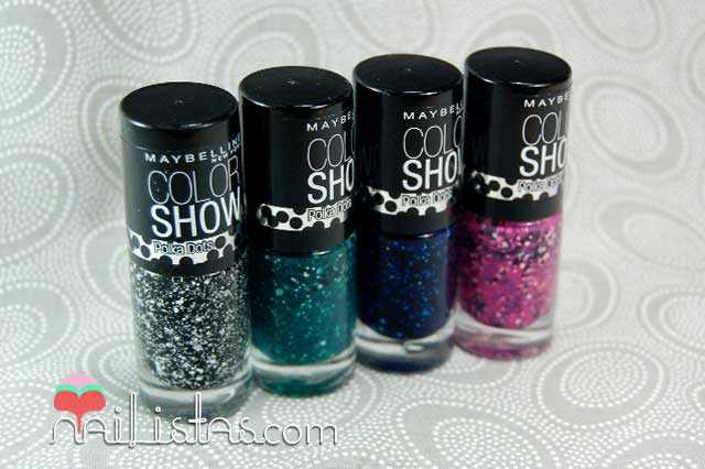 Esmaltes Color Show Rainforest Canopy, Speckled Pink, Shooting Stars, Chalk Dust