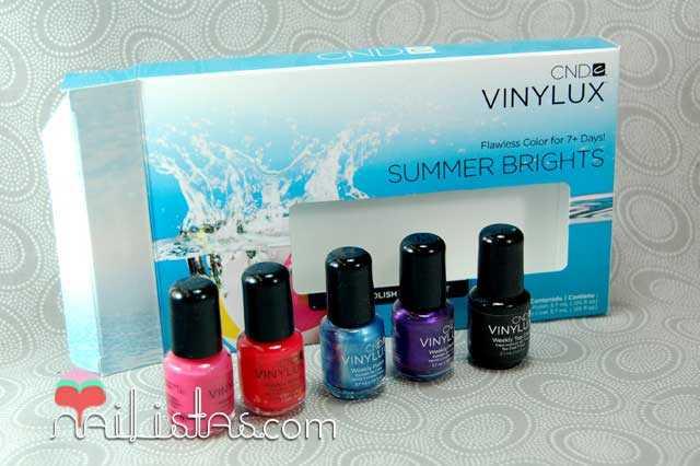 CND Vinylux, esmaltes de larga duración, Summer Brights