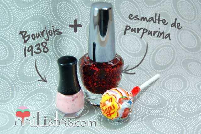 Mezclar dos esmaltes de uñas