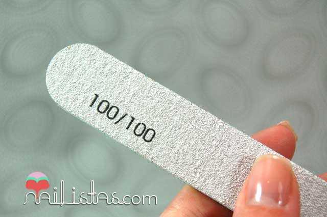 Lima gruesa de grano 100 para uñas artificiales