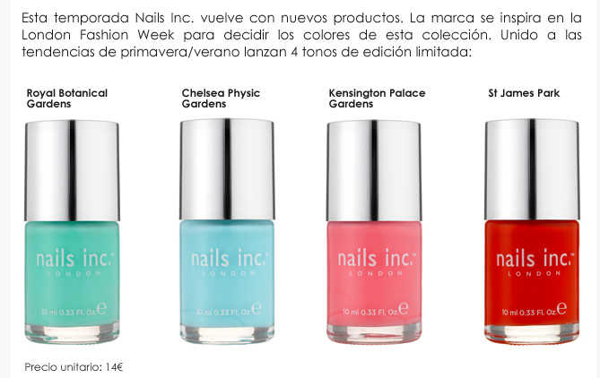 Esmaltes de uñas Nails Inc London Sephora