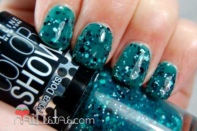 Color Show Polka Dots Rainforest Canopy Swatch