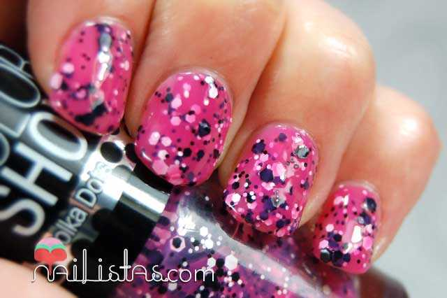 Color Show Polka Dots Speckled Pink Swatch